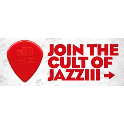 6 מפרטים לגיטרה - Dunlop Jazz III Red